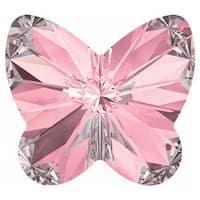 Swarovski Crystal, 4748 Rivoli Butterfly Rhinestones 10mm, 4 Pieces, Light Rose F