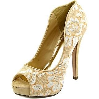 Famous Name Brand Pandon Women Open Toe Canvas Platform Heel