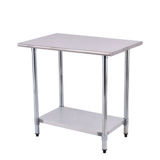Costway 24'' x 36'' Stainless Steel Work Prep Table Commercial Kitchen Restaurant|https://ak1.ostkcdn.com/images/products/is/images/direct/2db263bbbcd4fa1205be3545d90dfd82e0b9076e/Costway-24%27%27-x-36%27%27-Stainless-Steel-Work-Prep-Table-Commercial-Kitchen-Restaurant.jpg?impolicy=medium