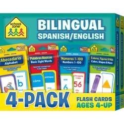 Bilingual - Flash Cards 4-Pack