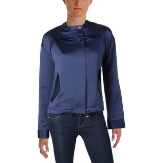 Guess Womens Jacket Satin Long Sleeves - m