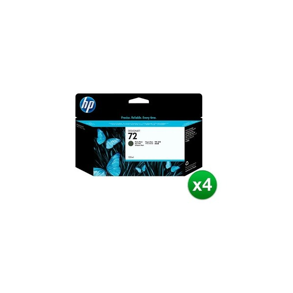 HP 72 130-ml Matte Black DesignJet Ink Cartridge (C9403A) (4-Pack)