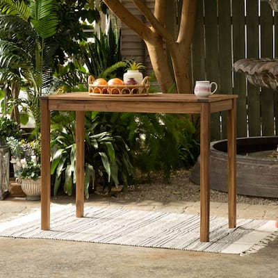 Acacia Wood Counter Height Table by Havenside Home