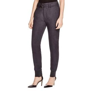 Vince Womens Dress Pants Wool Banded Bottom
