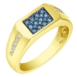 Prism Jewel 0 40Ct SI1 Blue Diamond G H I1 Natural Diamond Men S Anniversary Ring