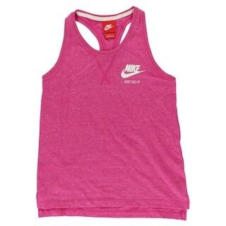 Nike Girls Gym Vintage Tank Top Heather Pink
