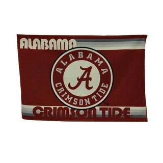 University of Alabama Crimson Tide 39 By 59 Inch Tufted Non-Skid Area Rug - Red