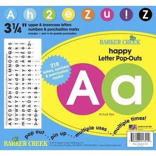 Barker Creek Happy Circle Letters, 3-1/4 in