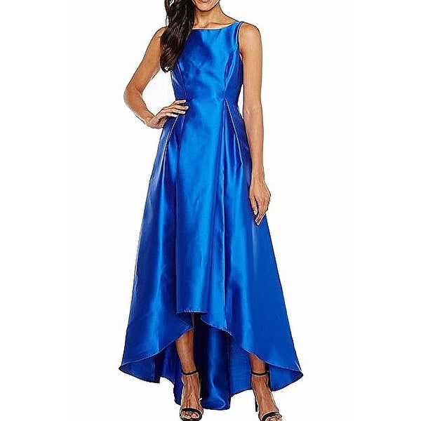 2a90c73e Shop Adrianna Papell Royal Blue Womens Size 6 High Low Satin Gown - Free  Shipping Today - Overstock - 27369181
