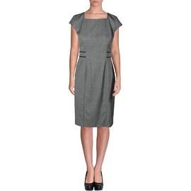 Boss Womens Wool Sleeveless Wear to Work Dress - 4