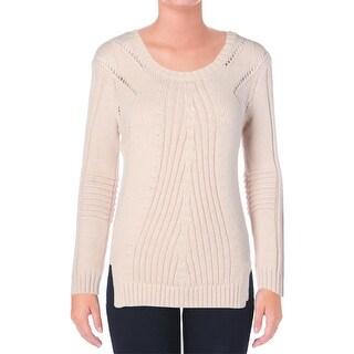 Sam Edelman Womens Knit Open Stitch Pullover Sweater
