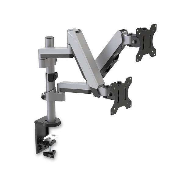 V7 Mounts And Stands Dm1dtas-1N Dual Stack Touch Adjust Monitor Mount