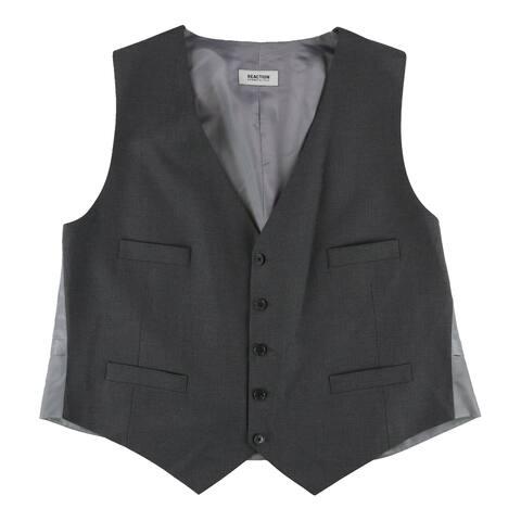 Kenneth Cole Mens Contrast Five Button Vest - 48 Regular