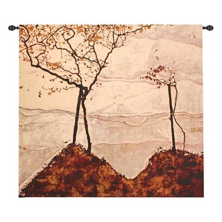 "Autumn Sun and Trees Wall Hanging Tapestry 53"" x 53"""