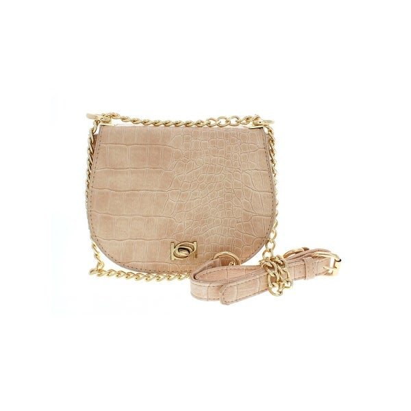 Shop Bebe Womens Michelle Crossbody Handbag Evening Chain - Small ... 7cd00e2329bf3