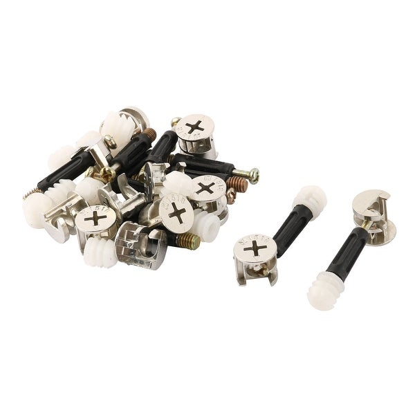 Dinning Room Metal Cupboard Cam Lock Connecting Fitting Dowel Nut Multicolor 12 Sets