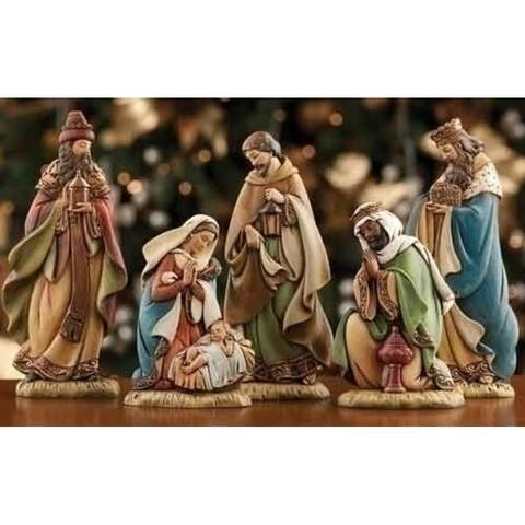 5-Piece Joseph's Studio Narrow Christmas Nativity Set - N/A