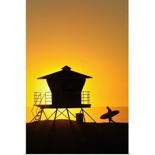 """""""Lifeguard tower"""" Poster Print"""