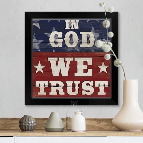 """""""In God We Trust"""" Black Framed Print"""