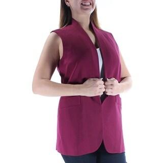 Womens Purple Sleeveless Wear To Work Vest Top Size 12