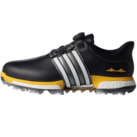 New Men's Adidas Tour 360 Boost U.S. Open Limited Ed. Golf Shoes Core Black/FTWR White/Bold Gold F33510