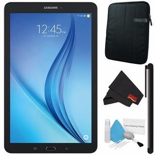 "Samsung 16GB Galaxy Tab E 9.6"" Wi-Fi Tablet (Black) SM-T560NZKUXAR + Tablet Neoprene Sleeve 10.1"" Case (Black) Bundle"