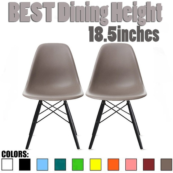 Shop 2xhome Set Of 2 Gray Mid Century Modern Plastic Chairs For