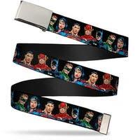 Blank Chrome Buckle Justice League Elite Forces Superheroes Webbing Web Belt