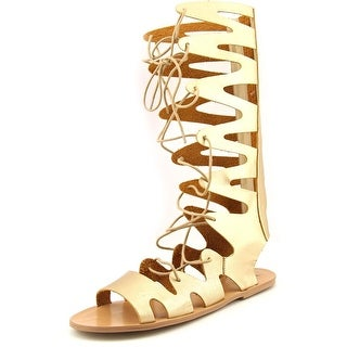 LFL Wicked Women  Open Toe Synthetic Gold Gladiator Sandal
