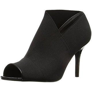 Adrianna Papell Womens Aneva Booties Contrast Trim Open Toe