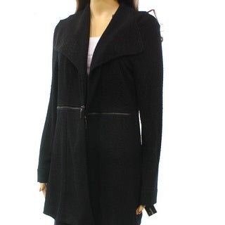 Alfani NEW Black Side Zip Women's Size Medium M Sweater Jacket