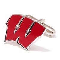 Silver Plated University of Wisconsin Badgers Cufflinks