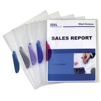 C-Line Clear Report Cover with Assorted Colored Swing Clip
