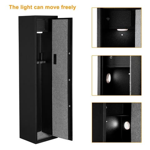 Electronic 5 Rifle Gun Safe Large Firearms Storage Cabinet with Lock Box - N/A