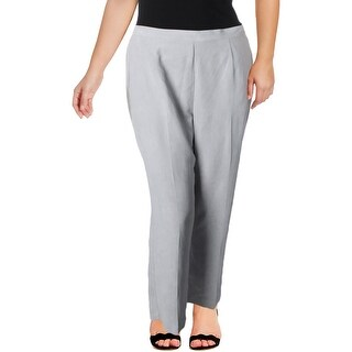 Alfred Dunner Womens Plus Dress Pants Straight Leg Work Wear