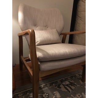 Haddie Wood Frame Club Chair by Christopher Knight Home