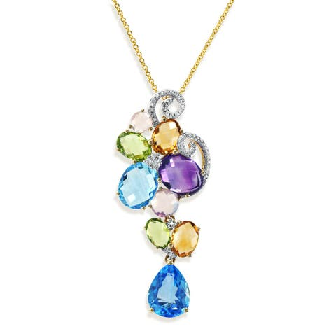 Effy Jewelry Multi-Gemstone Pendant in 14K Yellow Gold, 7.7 TWC