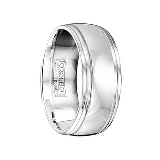 Men's Cobalt Comfort Fit Wedding Ring with Polished Round Edges by Crown Ring - 9mm