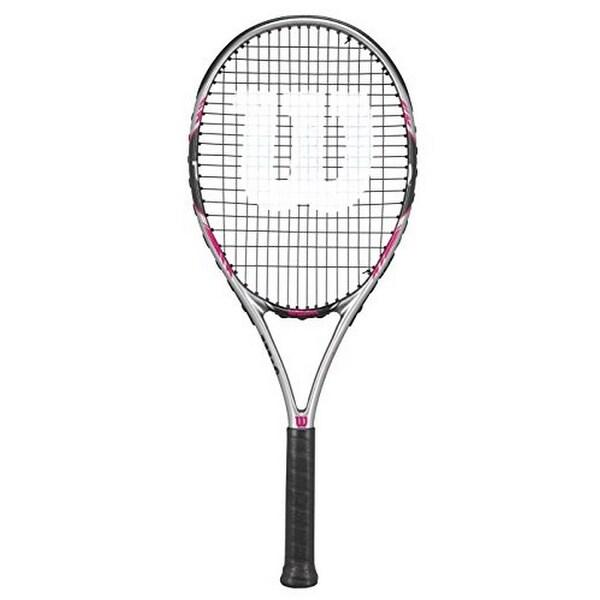 Shop Wilson Womens Hope Lite 103 Racket Grey Black Pink