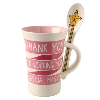 Enesco Special Magic Mug and Spoon Gift Set - Printed Decorative Cup with Attached Utensil for Stirring and Mixing