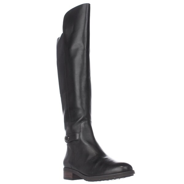 Coach Emmie Tall Turnlock Boots, Black