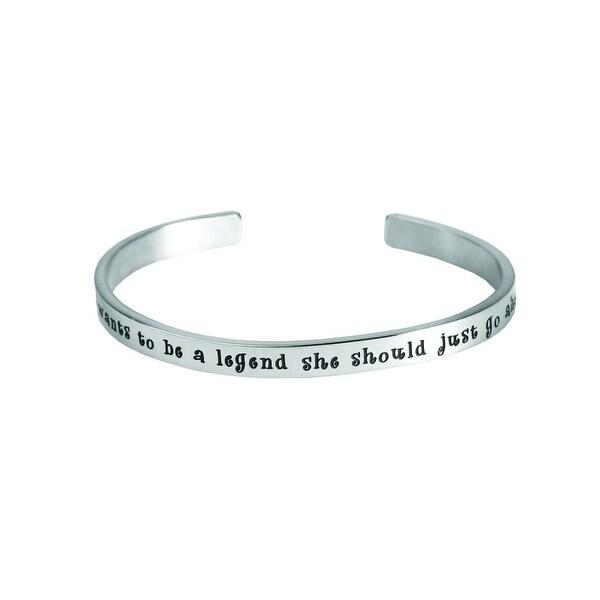 Women's Famous Women's Quotes Cuff Bracelet - Be a Legend - Calamity Jane