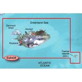 Garmin VEU043R - Iceland & Faeroe Islands SD card Navigational Software