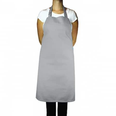 "Mukitchen 6002-1608 Cotton Chefs Apron, Nickel Color, 35"""