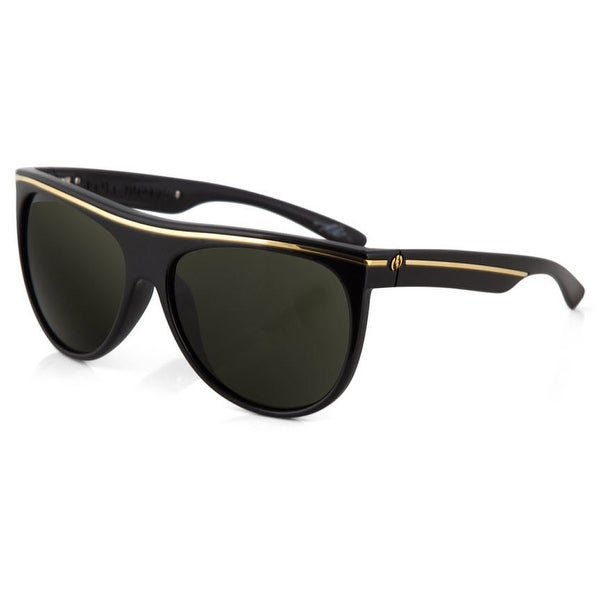 Electric Mens Plastic Aviator Low Note Sunglasses Fools Gold Grey ES11744020