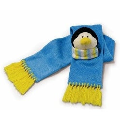 Russ Berrie Snowy Days Scarf with Plush Penguin