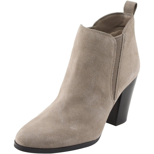 Michael Kors Womens Brandy Leather Closed Toe Ankle Cowboy Boots