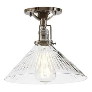 JVI Designs 1202-S2-CR Union Square One Light Flush Mount Ceiling Fixture