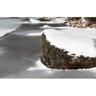 Rock & Snow Photograph Unframed Fine Art Print