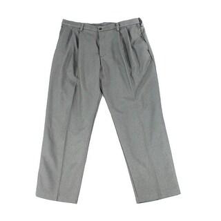 Haggar NEW Gray Heather Mens Size 33X30 Dress Pleat Solid Seamed Pants